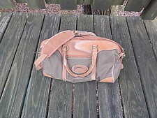 AUSTRALIAN BAG OUTFITTERS CANVAS/LEATHER DUFFLE BAG INTERNATIONAL SALE