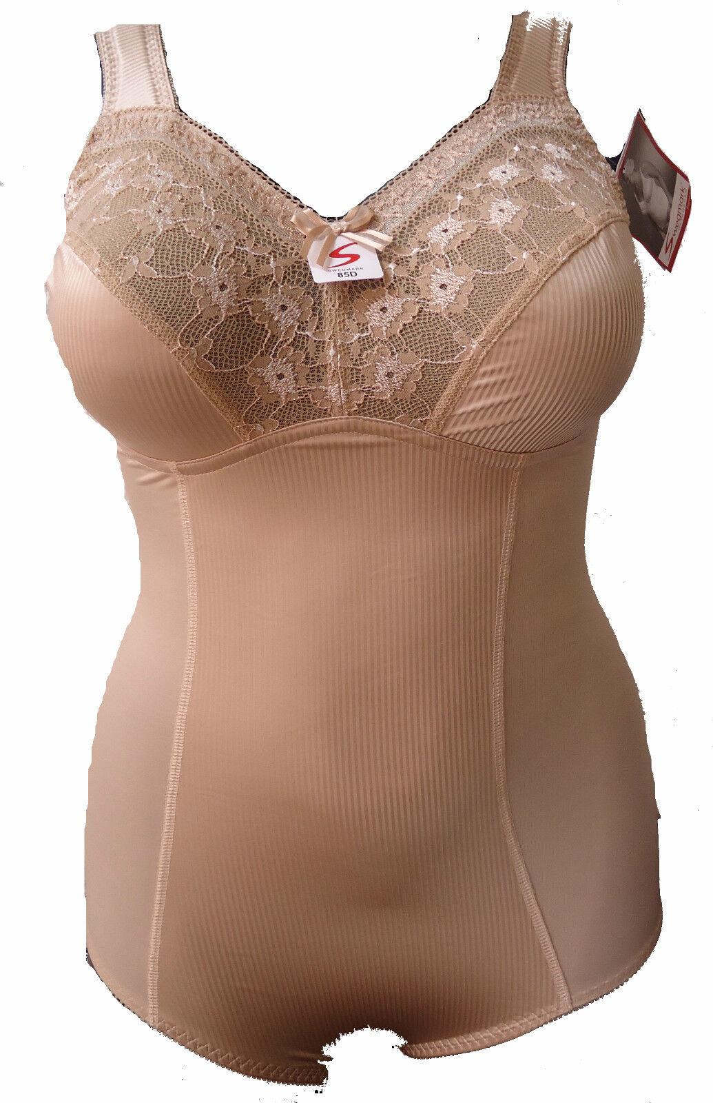 SWEGMARK 37470 FORMA 80-105 D & DD E UK36-46 gold GLANZ Body Einteiler Shapewear