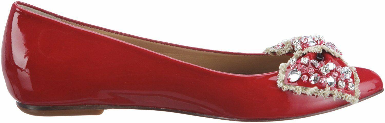 Lodi Ballerines Rouge Cuir Verni Belle 15830 taille 36