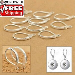 Image Is Loading 100pcs 925 Sterling Silver Earring Hooks Beads For