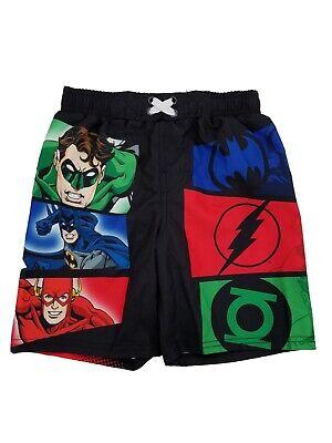 Justice League Superhero Toddler Boys Swim Trunks Batman Superman Size 3T New