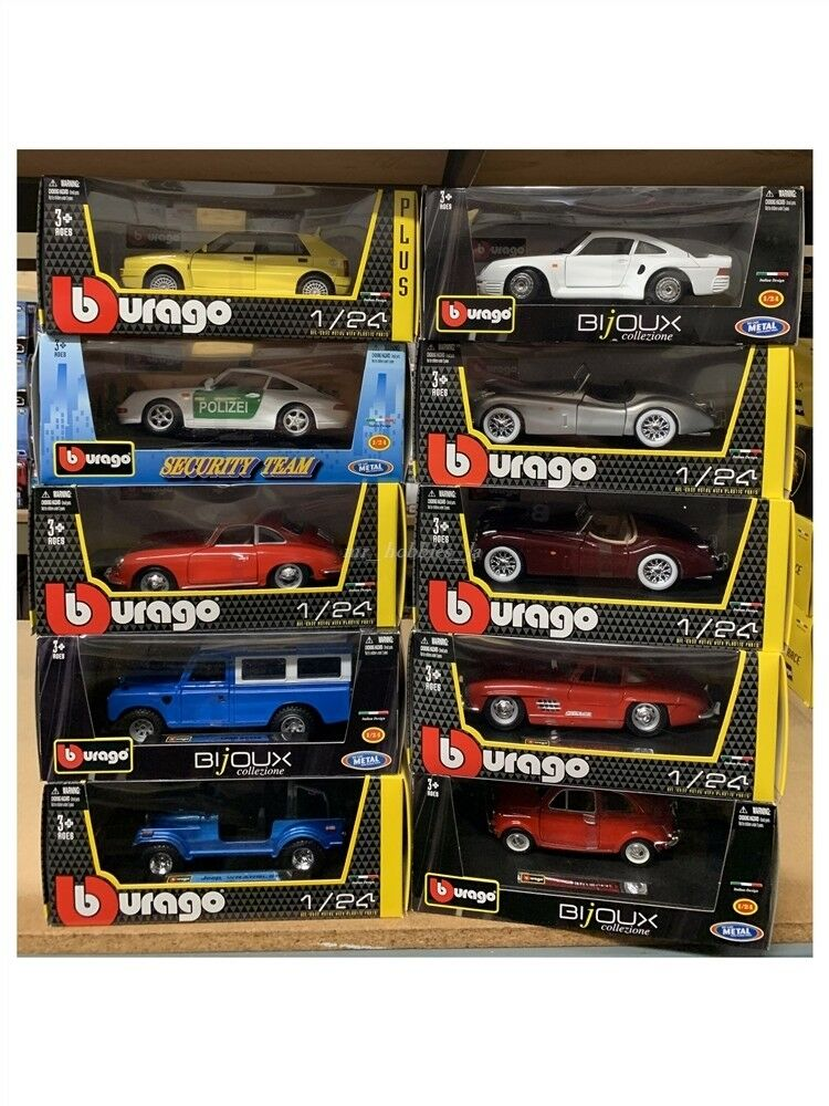 MIXED LOT OF 10 PCS 1 24 24 24 DIE CAST MODEL BY BBURAGO (LOOK AT PHOTOS FOR DETAIL) 3 fa0857