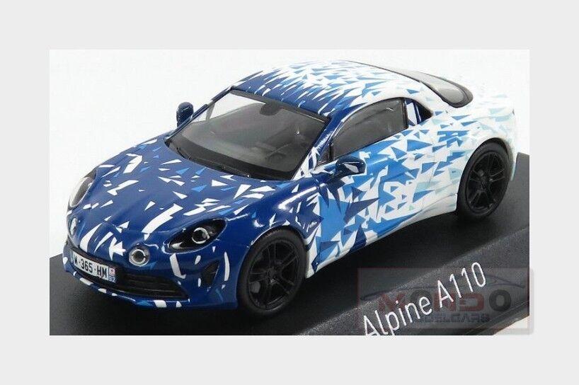 Alpine A110 2017 blanco azul NOREV 1 43 NV517863
