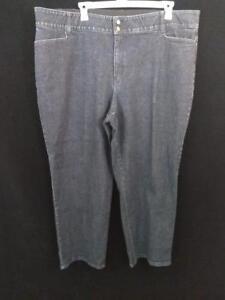 Fashion-Bug-jeans-womens-size-32W-cotton-blend-48-x-32-dark-wash