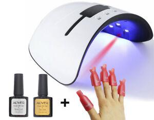 UV-LED-Nail-Lamp-Gel-Nail-Polish-Dryer-UV-Light-Fast-Curing-w-Auto-Timer-Sensor