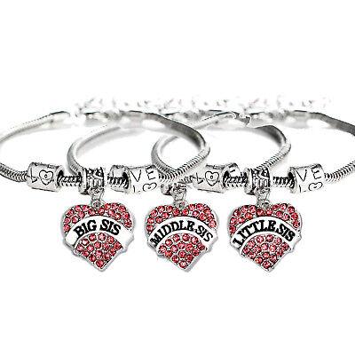 Sister bracelet Huge sale European style Crystal Heart Bracelet Great jewelry