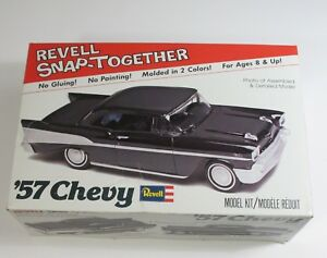 Vintage-Revell-Model-Kit-SnapTogether-039-57-Chevy-ASSEMBLED-Box-and-Instructions