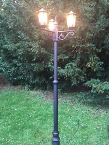 Ordinaire Details About 2m Tall Outdoor 3 (Triple) Head Victorian Garden Lamp Post In  Black