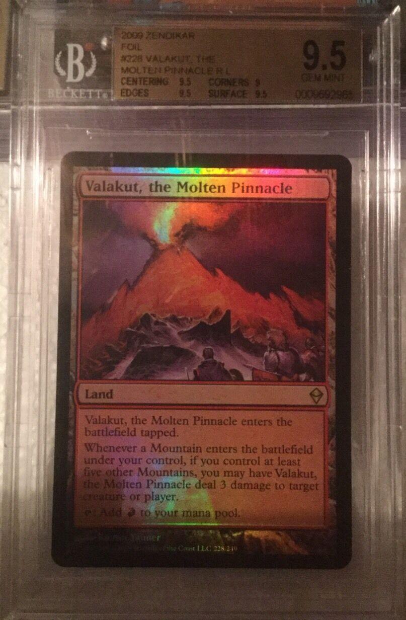 Valakut, The Molten Pinnacle FOIL - BGS BGS BGS 9.5 GEM MINT - Zendikar - MTG 6fcd6f