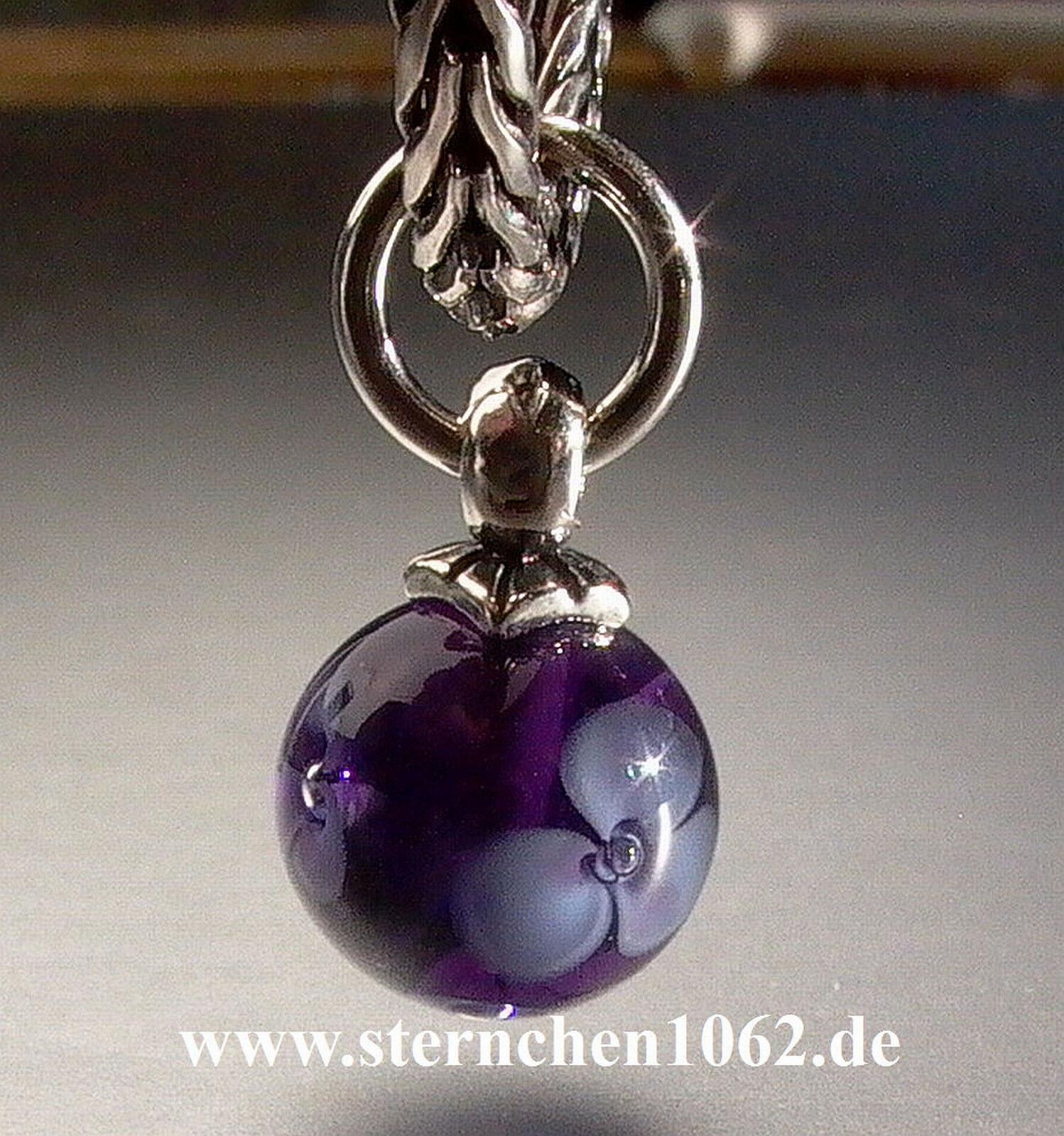 Original Trollbeads  purple bluemenquaste  04