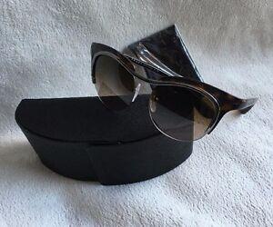 6fdd4b6fe16e Prada Sunglasses DIXIE SPR 68O Havana 5AV-6S1 CAT EYE 49mm NEW ...