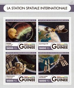 100% Vrai Station Spatiale Internationale (iss) Astronautes & Spacex Dragon Stamp Sheet (2016)-afficher Le Titre D'origine Les Couleurs Sont Frappantes