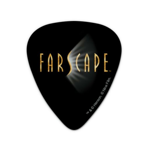 Farscape TV Show Logo on Black Novelty Guitar Picks Medium Gauge Set of 6