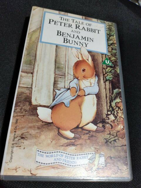 THE TALE OF PETER RABBIT AND BENJAMIN BUNNY VHS 92  Super Fast Tracked Dispatch