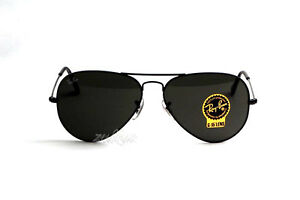 312e6cfedf cheapest image is loading ray ban aviator pilot black green sunglasses 62mm  93d71 12b94