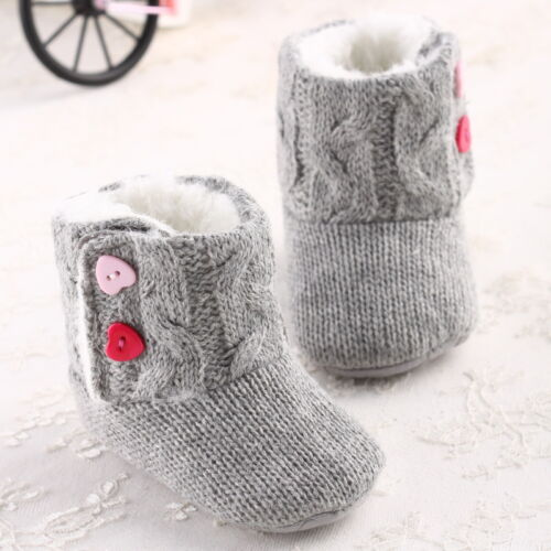 Baby Girl Winter Shoes Knitted Warm Snow Boot #V Comfortable Toddler Warm Infant
