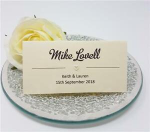 Personalised-wedding-place-cards-name-cards-white-ivory-kraft-diamante-handmade