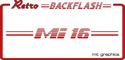 Back Flash Car Sticker Toyota Retro Car Backflash