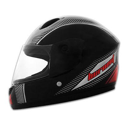 Kinderhelm Motorradhelm Integralhelm Kinder Helm schwarz-rot TURBO