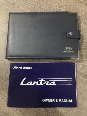 #11 Hyundai Lantra & Elantra Proprietari Manuale Handbook & Cartella Libro Confezione Da 1995-2000- Elegante Nello Stile