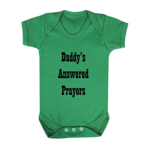 Daddy/'s Answered Prayers Cotton Baby Bodysuit One Piece