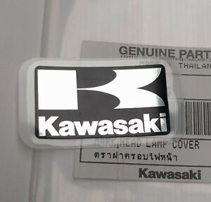 Kawasaki K Black Silver Decal Emblem Sticker Badge 42mm X 24mm Uk Stock Ebay