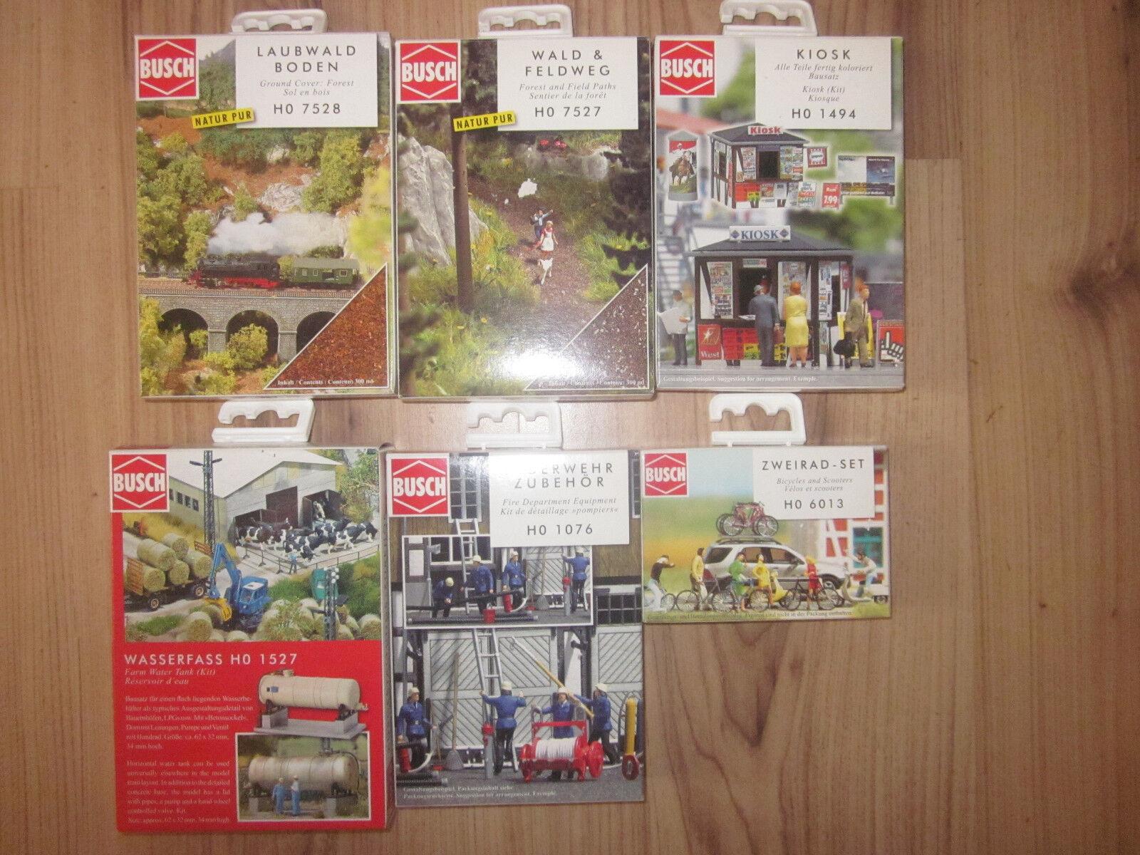 Busch 6 diferentes kits accesorios, nuevo + embalaje original