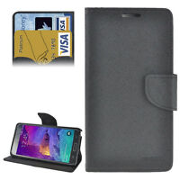 Leather Look Case Cover Mobile Phone Pouch Bag For Samsung Galaxy 4 Black