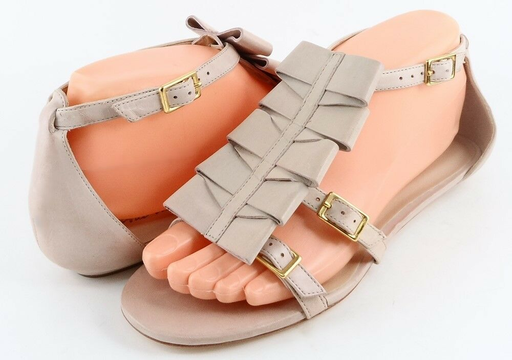 285 POUR LA VICTOIRE ESTELLE Dusty Peach Leather Designer Comfort Sandals 6.5