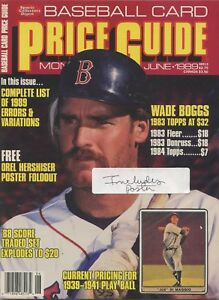 Details About Sports Collector Digest Baseball Card Price Guide June 1989