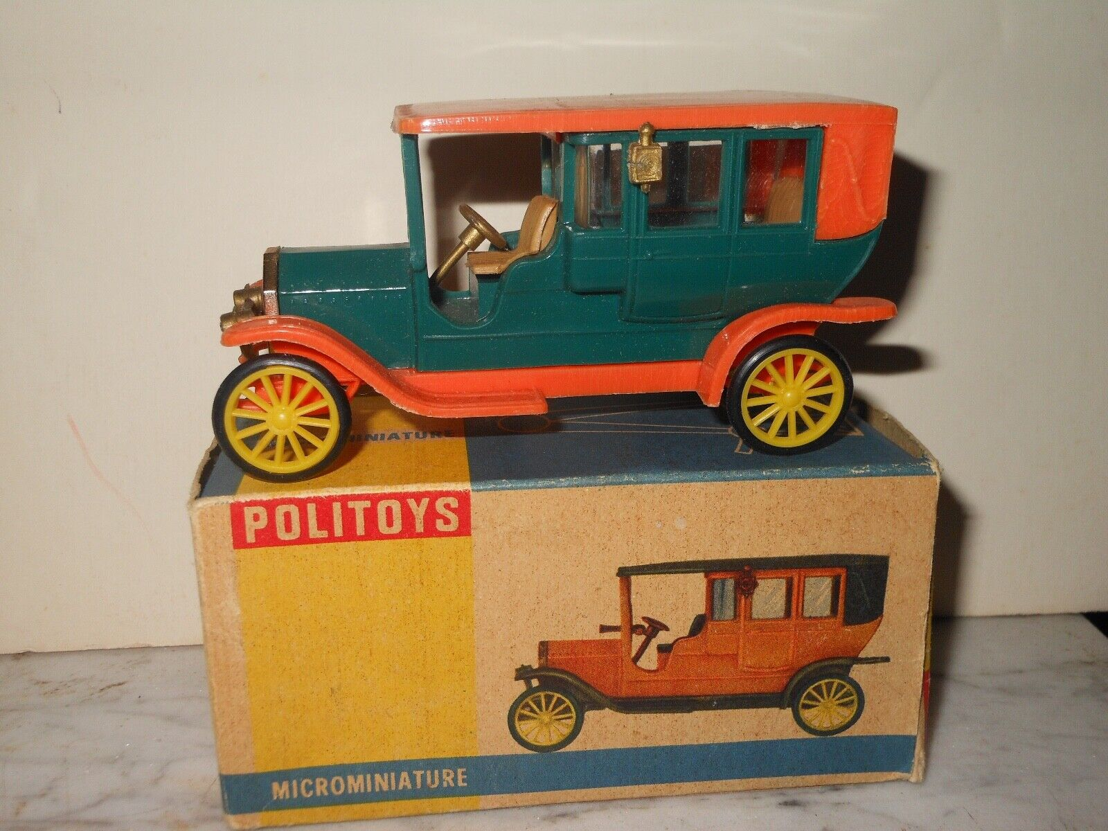 Microminiature Politoys 104 1 43 scale plastic 1909 Itala Palombell vintage toy