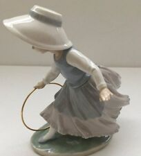 Lladro Nao RETIRED # 0297 Figurine Girl with Hoop  Lovely 1980 Collectable