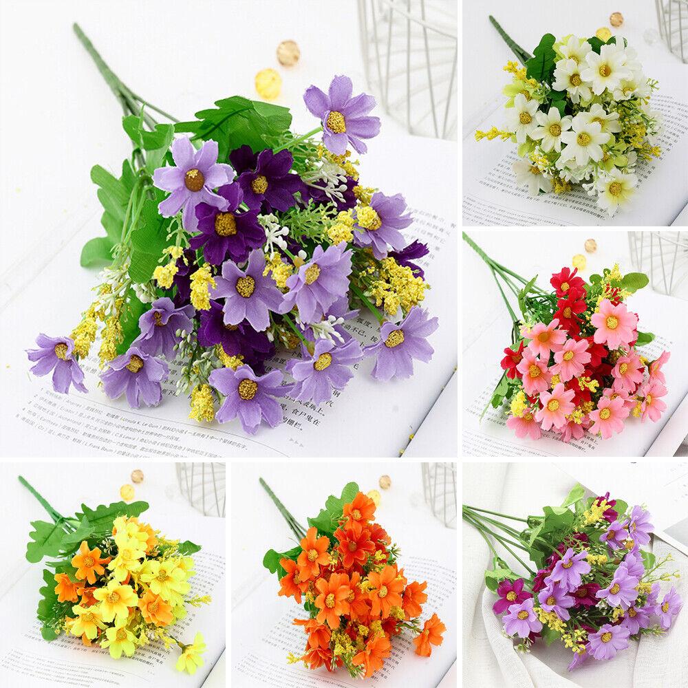 28 Heads Artificial Flower Fake-Daisy Bouquet Home Wedding Party Garden Decor