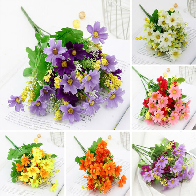 Plastic Artificial Flowers Daisy Garden Floral Bouquet Decal Home Decor Outdoor For Sale Online Ebay