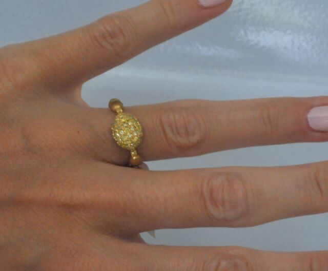 Nanis by Laura Bicego Diamond Ring 0.54 ct 18K Yellow Gold New $2380 Sale