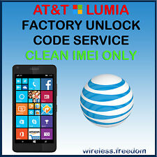 UNLOCK CODE FOR AT&T ALL MICROSOFT/NOKIA LUMIA 640 520 635 830 920 925 1520