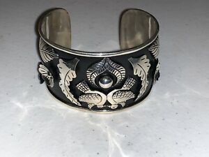Sterling Silver cuff bracelet hand made in Mexico