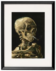 Skull-with-Burning-Cigarette-Vincent-van-Gogh-canvas-print-framed-12-8-034-x16-7-034