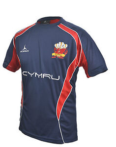 Olorun Wales Rugby Supporters Iconic Navy T-Shirt S - XXXXL