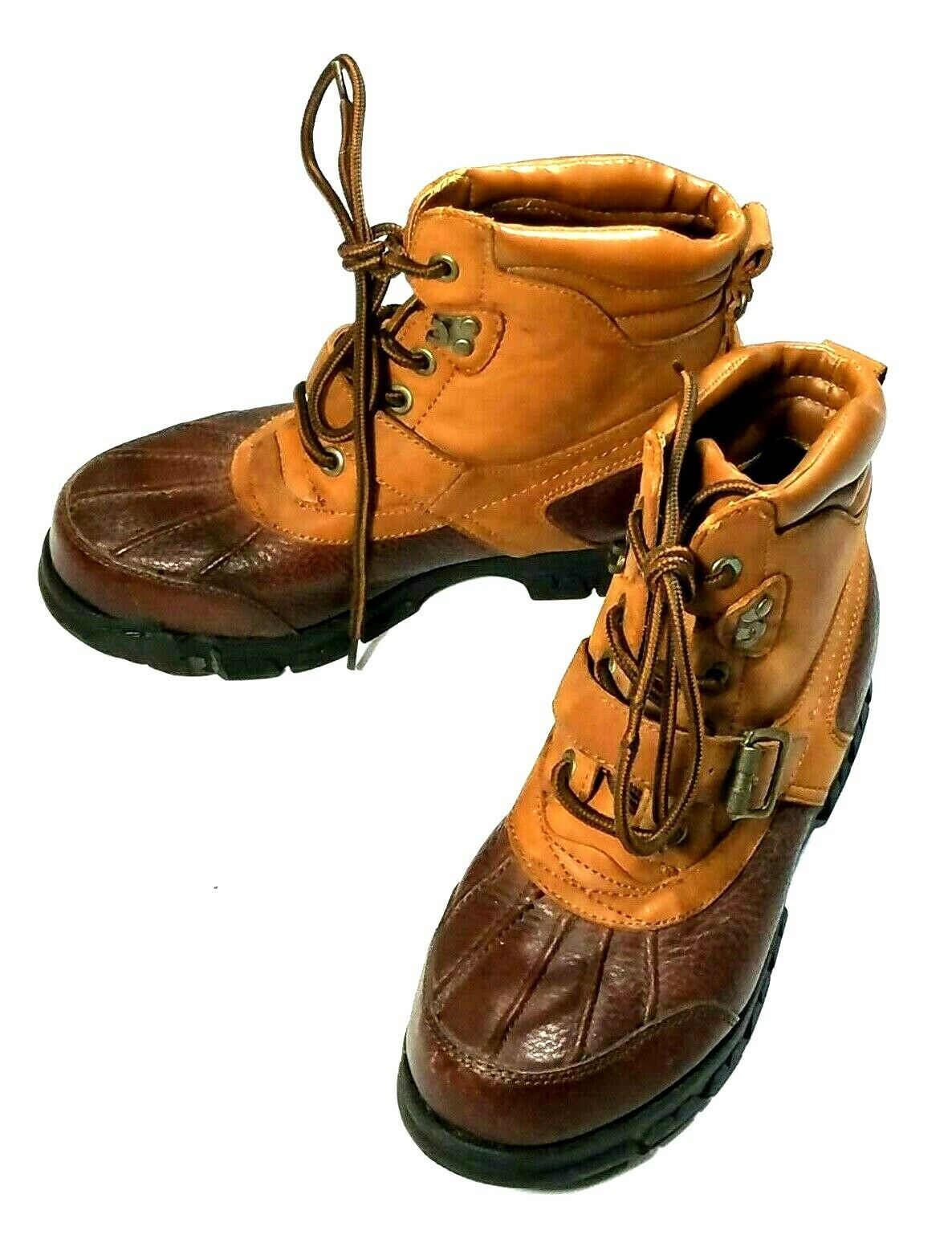 Vintage HUNT CLUB 063-0733 Barn, Hiking, Camping, Brown Leather Boots Women's 8M