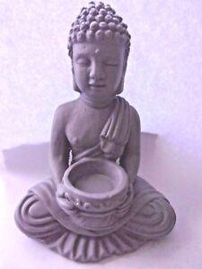 Latex-Buddha-mold-plaster-cement-concrete-garden-statuary-mould-6-034-H-x-3-5-034-W