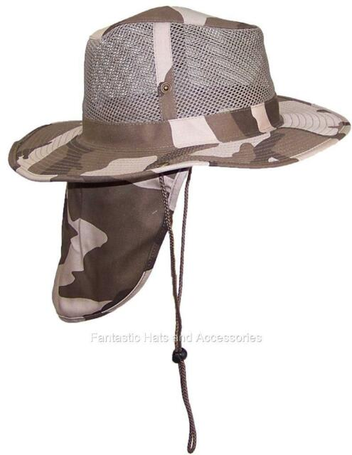 9876068e036125 JFH Group Wide Brim Men Safari/outback Summer Hat With Neck Flap (small  Light