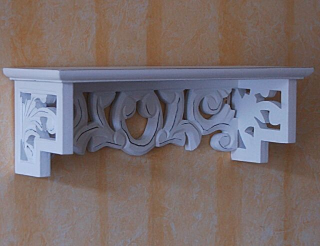 Wandregal Wandboard Regal Landhaus stil weiss Shabby Vintage Ablage 0104701