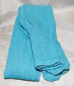"""100/% Cotton Long Over the Knee Socks - Aqua /""""NEW/"""" - Colonial//Re-Enacting"""