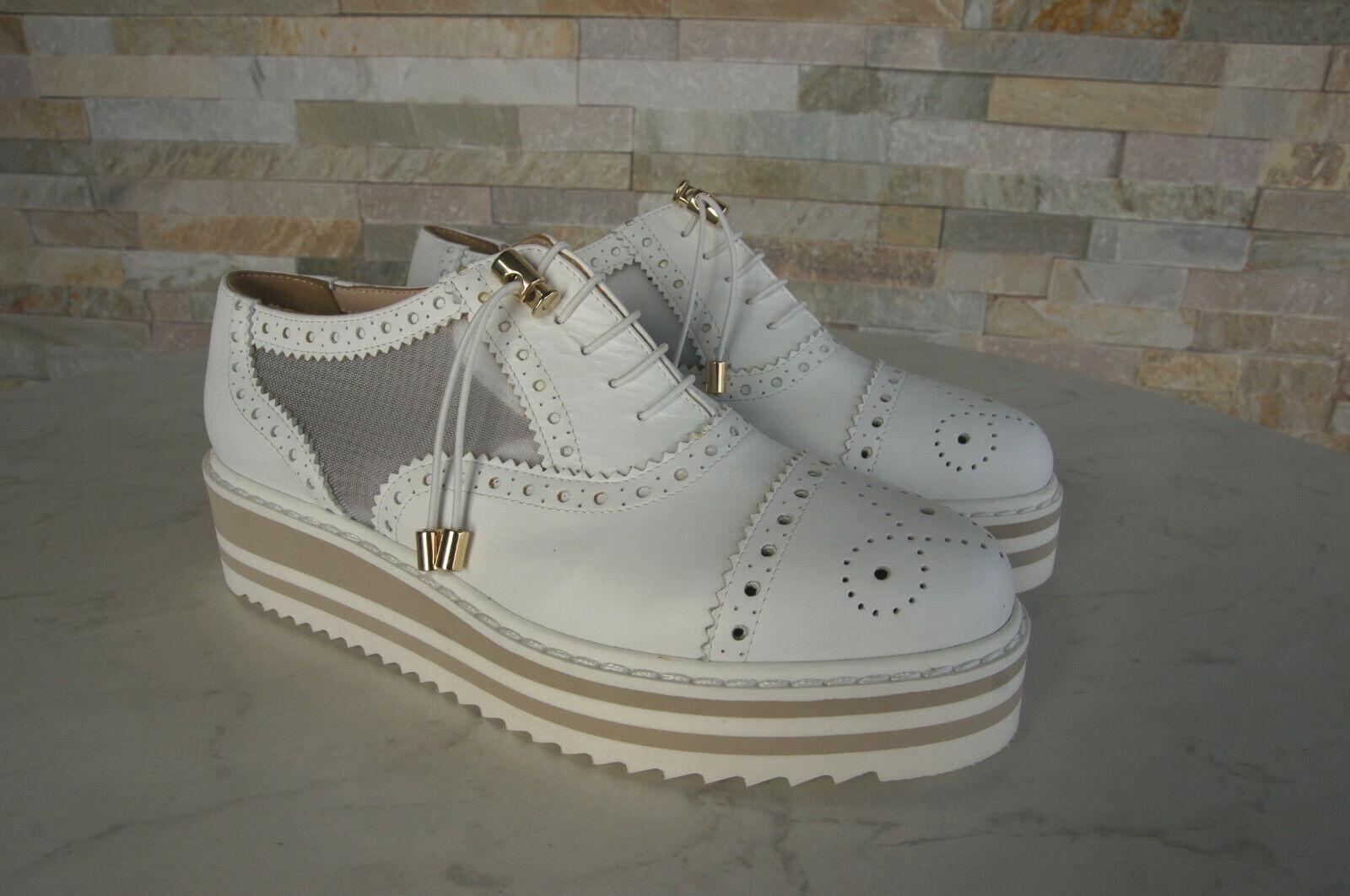 Baldinini Trend Trend Trend 38 Plateau shoes con Cordino Basse Bianche Nuovo Ehem.uvp 5228e3