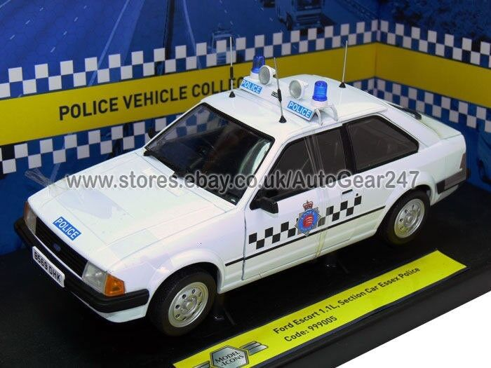 Limited Edition Ford Escort 1.1L Section Essex Police 1 18 Diecast Model Car