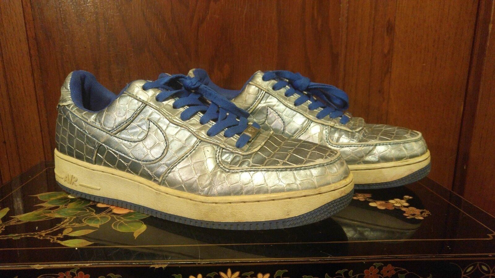 Nike Air Metallic bluee Reptile   Snake Skin shoes