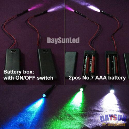 AA Battery Run Led Optic Fiber Light Illuminator 2PCS for Side-glow Fiber Cable