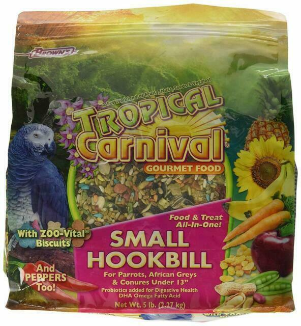 Brown/'s Tropical Carnival Gourmet Small Hookbill Food