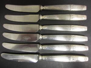 VINTAGE-SET-OF-6-SILVER-PLATED-WESTMINSTER-DESSERT-KNIVES-BY-ELKINGTON-amp-Co
